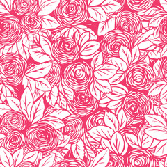 Seamless color pattern in roses.