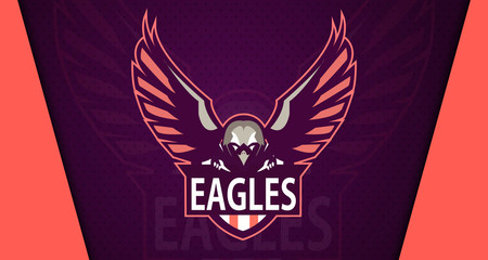 Eagle logo mascot for a team. Sport logo. Vector illustration. EPS10