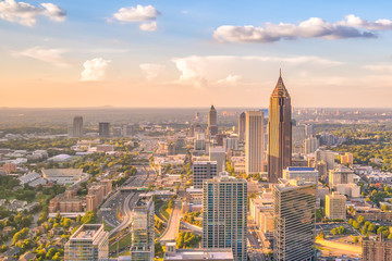 Fototapete - Skyline of Atlanta city