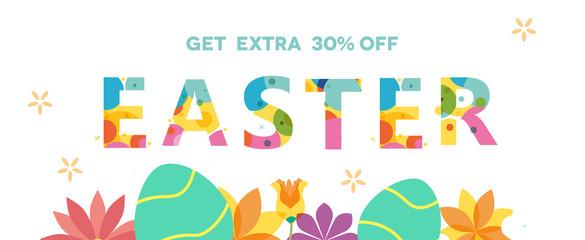 Easter Sale Banner, Sale Poster, Sale Flyer, Sale Vector, Vector illustration.