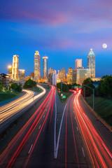Fototapete - Skyline of Atlanta city