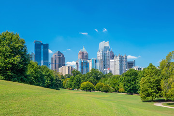 Midtown Atlanta skyline from the park Wall mural