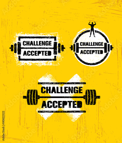 """Challenges Make Us Strong: """"Challenge Accepted. Creative Sport And Fitness Design"""