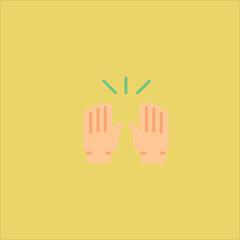 hands icon flat design