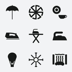 Set of 9 hot filled icons