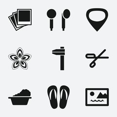 Set of 9 pattern filled icons