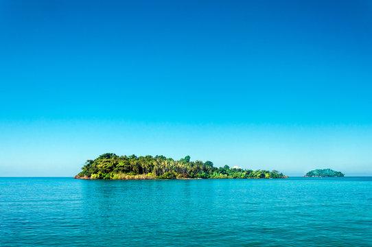 One beautiful island near Koh Chang in Thailand in Siam gulf sea water