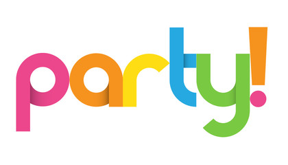 PARTY! Colourful Vector Letter Banner