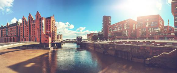panorama of hamburg city on a sunny day