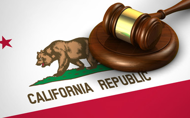 California Legal System And Law Concept Fototapete