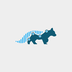 fox finance logo. animal logo with statistic concept