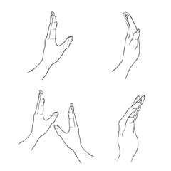 Person Open A Hand in The Air