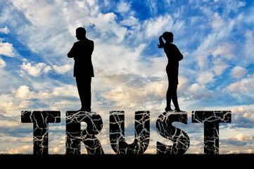 Wife and husband are on a cracked word of trust