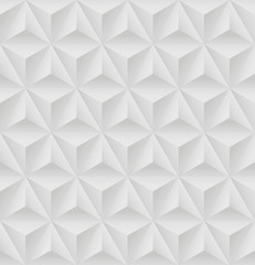 Seamless pattern with white triangular relief