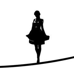 Silhouette | Frau im Dirndl