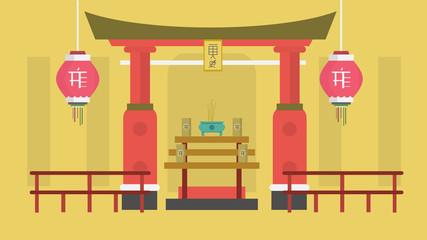 Shrine Background