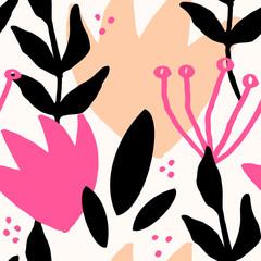 Wall Mural - Abstract Botanical Pattern