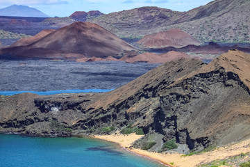 View to Santiago Island from Bartolome, Galapagos