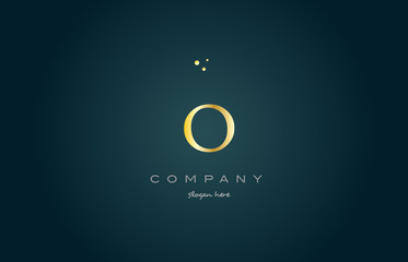o gold golden luxury alphabet letter logo icon template