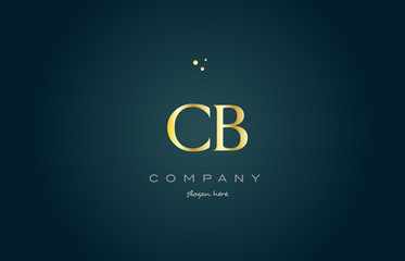 cb c b  gold golden luxury alphabet letter logo icon template