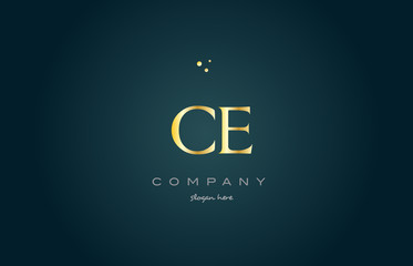 ce c e  gold golden luxury alphabet letter logo icon template