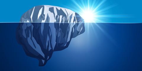 Cerveau - Iceberg - connaissance - science