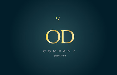 od o d  gold golden luxury alphabet letter logo icon template