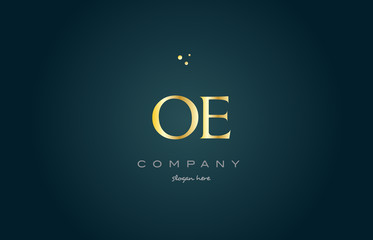 oe o e  gold golden luxury alphabet letter logo icon template