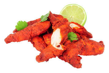Tandoori Chicken Isolated On A White Background