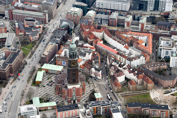The north of Germany and Hamburg from above