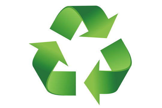 Recycle logo - clipping path included