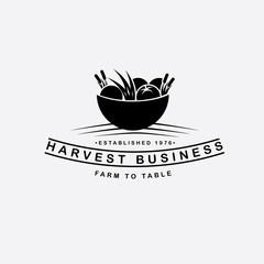 Food, Restaurant or farm icon symbol. Farm to table harvest logo inspiration. EPS 10 vector.