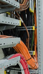 Cable trays on which are laid cables.