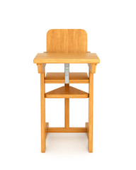 Children chair, chair for feeding. 3D illustration
