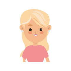 young woman cartoon icon over white background. colorful design. vector illustration