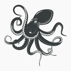 Ocean octopus or underwater squid