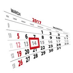 March 14, highlighted on 2017 calendar.