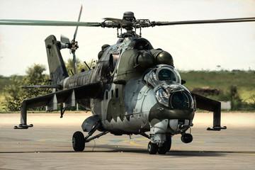 Cold war aera helicopter gunship