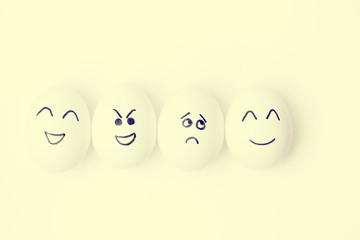 eggs with different mood