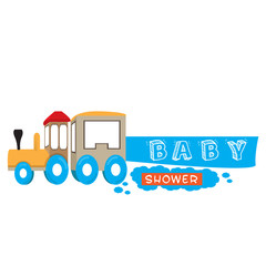 Isolated train toy for a baby shower, Vector illustration