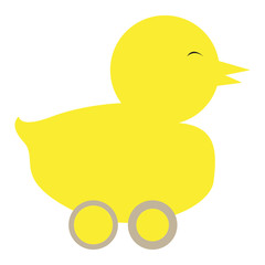 Isolated rubber duck on a white background, Vector illustration