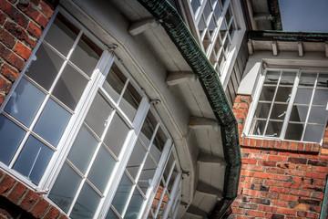 Historic old red brick houses. Location: New Zealand, capital city Wellington, North Island.
