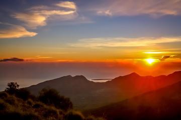 Stunning sunrise in Lombok