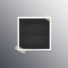 photo frame on transparent background