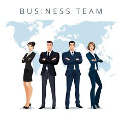 Businessmen and businesswomen together