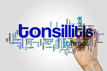 Tonsillitis word cloud concept