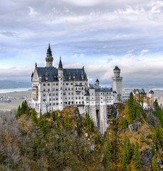 Neuschwanstein castle in the Bavaria Alps - Tirol, Germany