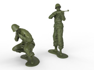 Small riflemen toy soldiers