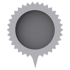 grayscale cloud circle chat bubble, vector illustration design