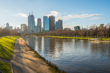The cityscape of Melbourne the most liveable city in the world, Victoria state, Australia.